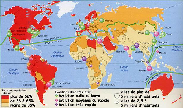 Villes Mondiales Cartes